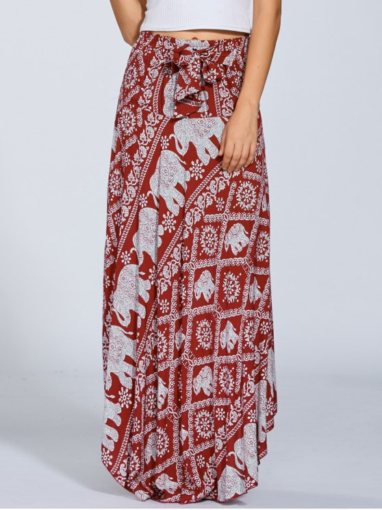 Maxi Boho Skirt - RED ONE SIZE Mobile