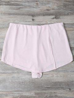 Slit Culotte Skinny Shorts - Shallow Pink S