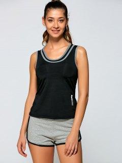 Sports Tank Top + Short Pants - Black S