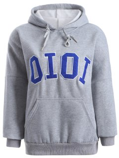 Oioi Graphic Hoodie - Gray