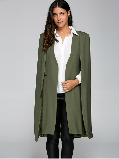 fashion Loose Cape Cloak Overcoat - ARMY GREEN XS Mobile