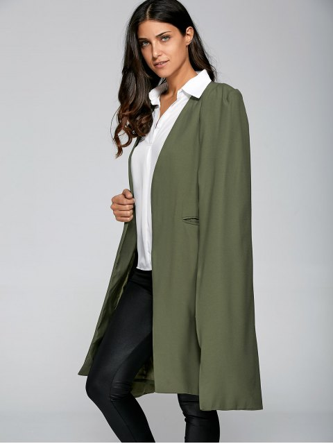latest Loose Cape Cloak Overcoat - ARMY GREEN M Mobile