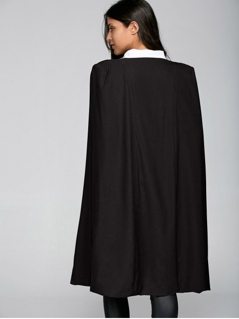 unique Loose Cape Cloak Overcoat - BLACK L Mobile
