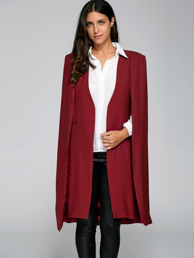 Loose Cape Cloak Overcoat - RED XS Mobile