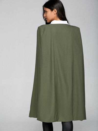 Loose Cape Cloak Overcoat - ARMY GREEN 2XL Mobile