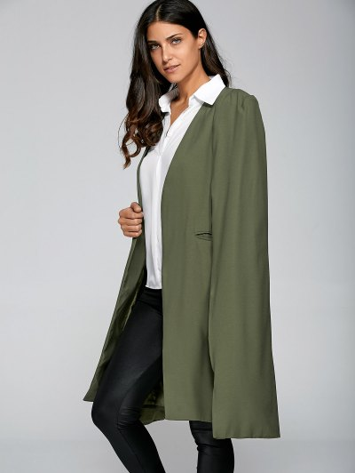 Loose Cape Cloak Overcoat - ARMY GREEN XL Mobile