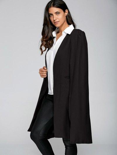 Loose Cape Cloak Overcoat - BLACK L Mobile