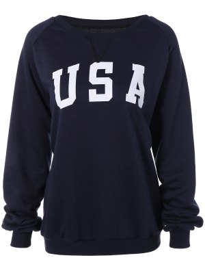 Sports Printed Sweatshirt - Cadetblue