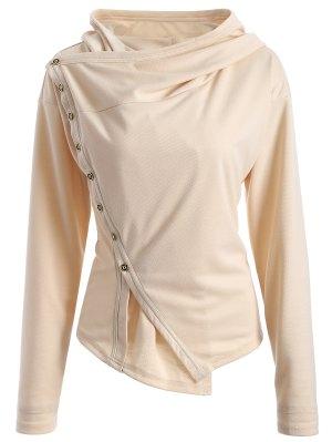 Single-Breasted Asymmetric Jacket - Light Khaki