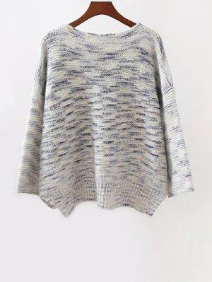 Marled Oversized Sweater - Gray