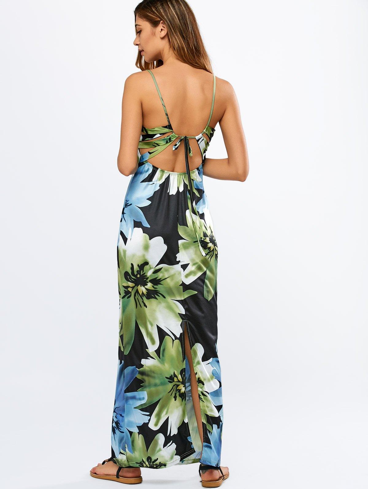 Back Criss-Cross Floral Cami Dress