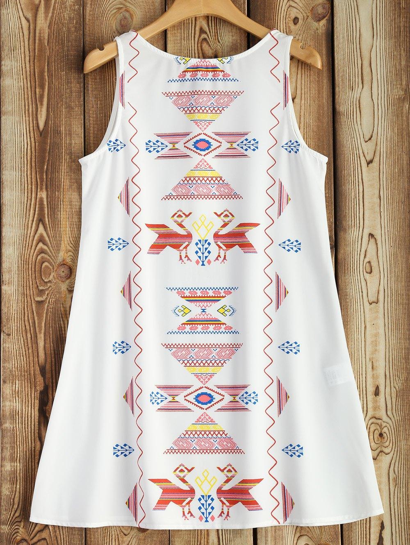 A Line Printed Tank Dress
