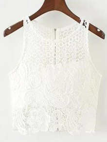 Crochet Flower Padded Crop Top