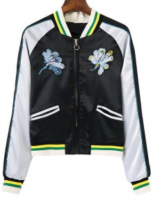 Floral Embroidery Souvenir Jacket
