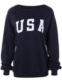 Sports Printed Sweatshirt - Cadetblue S