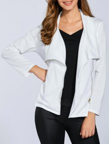 Folded Zippered Asymmetric Jacket