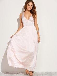 Cut Out Low Cut Maxi Long Prom Dresses PINK: Maxi Dresses L | ZAFUL