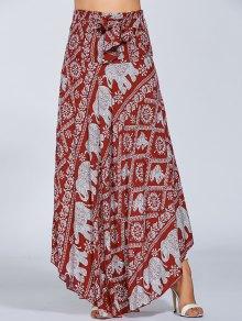 Maxi Boho Skirt - Red