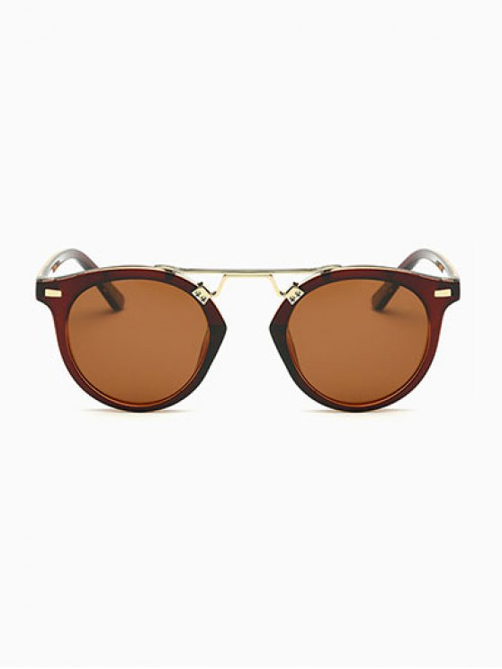Dam Nose Bridge Oval Sunglasses - TEA-COLORED  Mobile