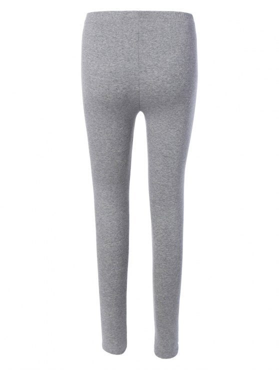 Elastic Stretchy Yoga Leggings - GRAY ONE SIZE Mobile