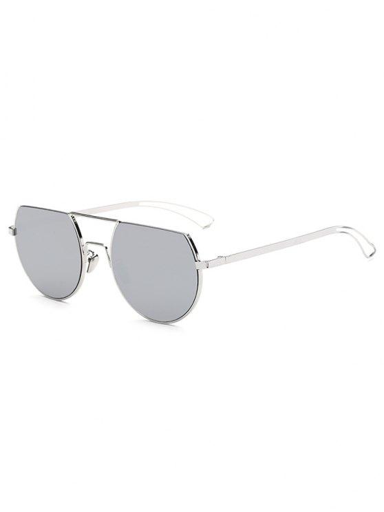 كشط الأعلى مرآة النظارات الشمسية - فضة