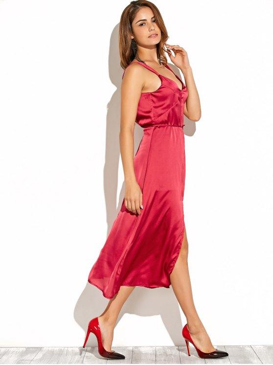 Cami Vestido de corte sin respaldo - Rojo S