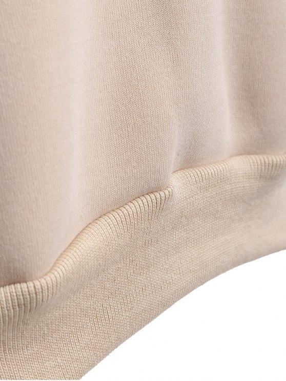 Raglan Sleeve Pullover Hoodie - APRICOT S Mobile
