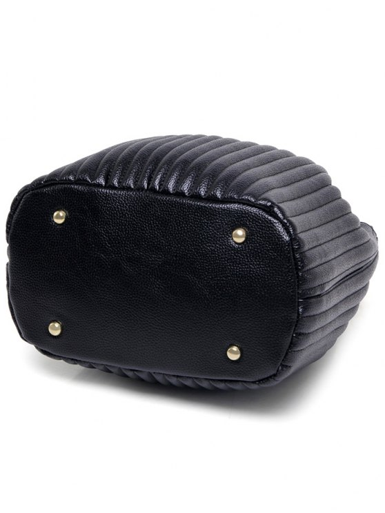 Drawstring Magnetic Closure Chain Shoulder Bag - PINK  Mobile