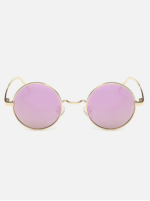 shops Streetwear Metal Round Mirror Sunglasses - PINK  Mobile