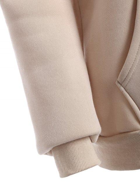 fashion Raglan Sleeve Pullover Hoodie - APRICOT L Mobile