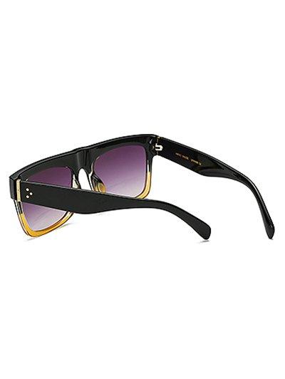 Color Block Frame Rectangle Sunglasses от Zaful.com INT