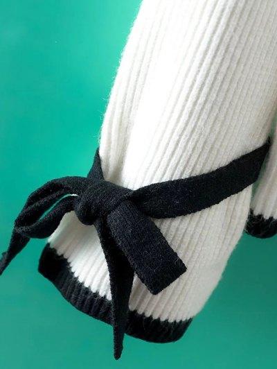 Bowknot Sleeve Mock Neck Jumper от Zaful.com INT