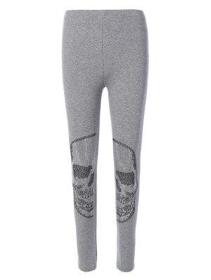 Elastic Stretchy Yoga Leggings - Gray