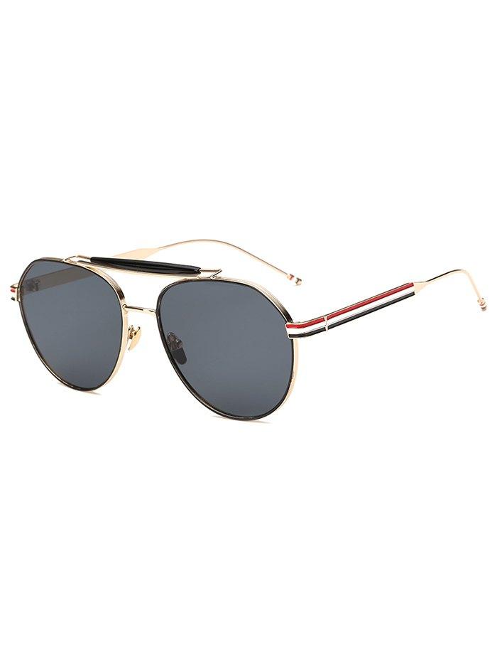 Striped Leg Pilot Sunglasses