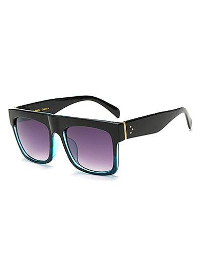 Color Block Rectangle Sunglasses