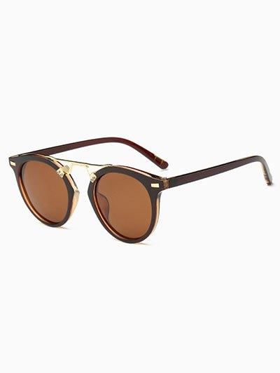 Nose Bridge Oval Sunglasses