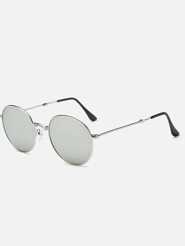 Cambered Nose Bridge Oval Mirror Sunglasses