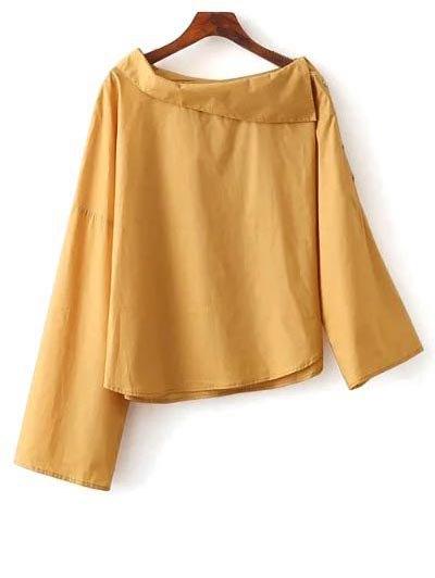 Buttoned Asymmetric Blouse
