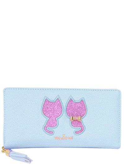Sequins Cat Pattern Wallet
