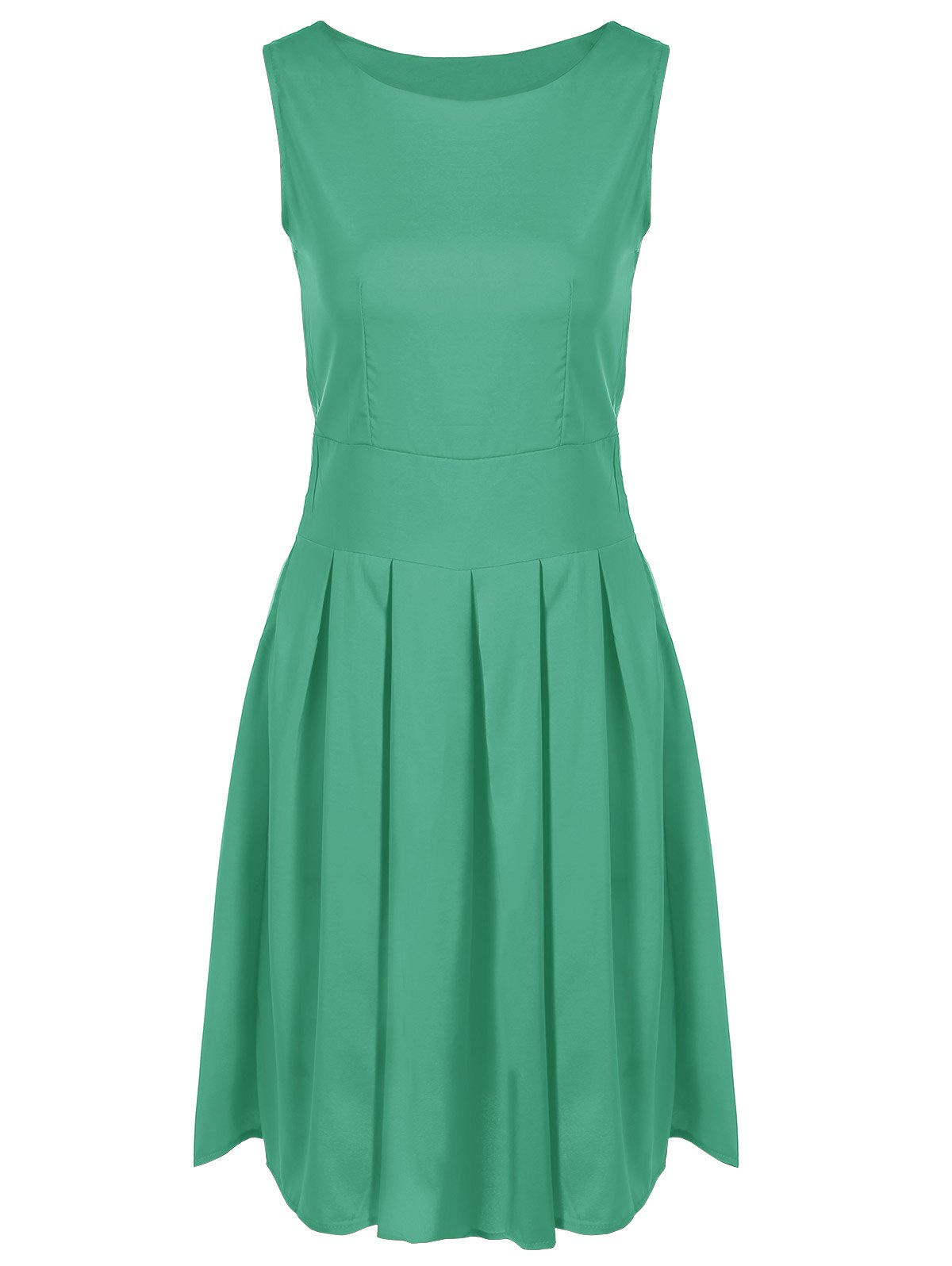Scoop Neck Vintage Swing Dress