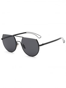Hollow Out Leg Scrape Top Sunglasses - Black