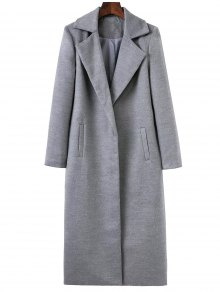 Longline Lapel Collar Cocoon Coat