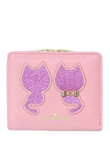Buy Animal Pattern Sequins Bow Wallet - PINK