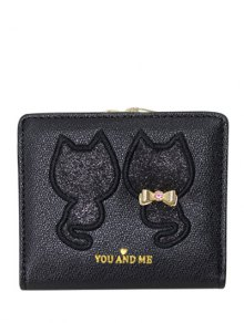 Buy Animal Pattern Sequins Bow Wallet -