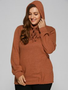 Slouchy Long Pullover Hoodie