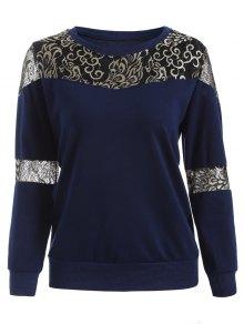 Lace Panel Sweatshirt