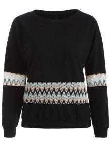 Crochet Panel Sweatshirt
