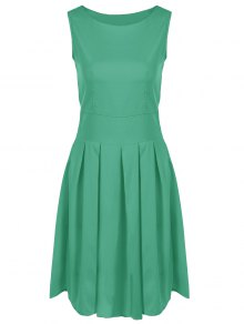 Vintage Ball Gown Swing Dress - Green 2xl