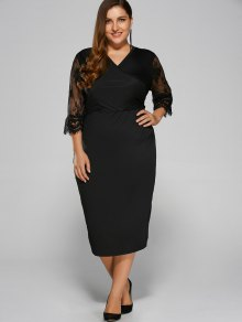 Cut Out Plus Size Dress
