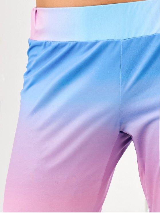 Ombre Mid Waist Leggings - MULTI XL Mobile